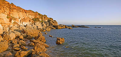 Andalusia Photograph - Cliffs At Coast, Conil De La Frontera by Panoramic Images