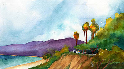 Santa Monica Drawing - Cliffs At The Beach by Jennifer Greene