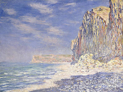 Calm Painting - Cliffs Near Fecamp by Claude Monet