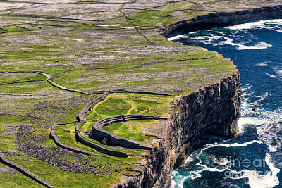 Cliffs Of Inishmoore Print by Juergen Klust