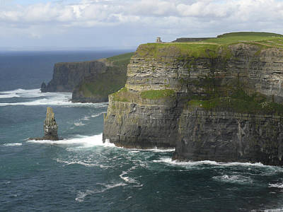Atlantic Digital Art - Cliffs Of Moher 2 by Mike McGlothlen
