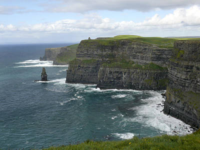 Atlantic Digital Art - Cliffs Of Moher 3 by Mike McGlothlen