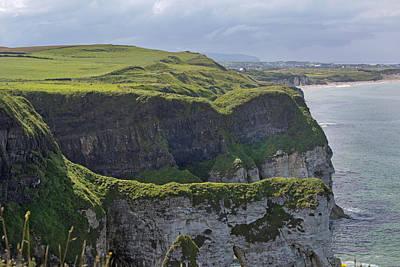 Cliffside Antrim Ireland Print by Betsy C Knapp