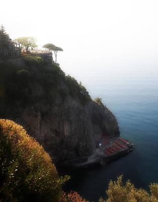 Cliffside Hotel Praiano Italy Original by Hugh Smith