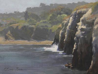 Plein Air Painting - Cliffside Surf La Jolla by Anna Rose Bain
