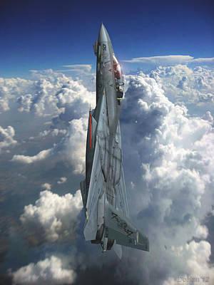 F-14 Digital Art - Climb Baby by Dorian Dogaru