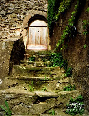 Climbing Old Stairs Print by Lainie Wrightson