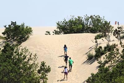 Climbing The Dunes Print by Carolyn Ricks