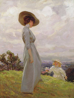 Mother Painting - Climbing Up The Hillside by Frederick Stead
