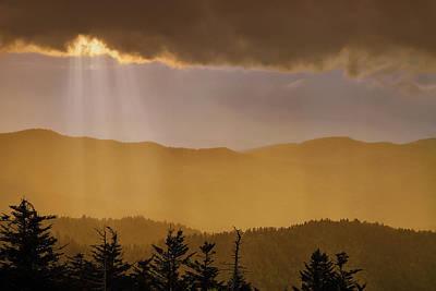 Clingmans Sunset Print by Andrew Soundarajan