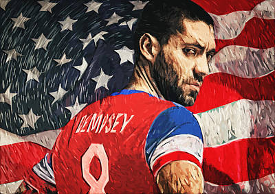 Tottenham Digital Art - Clint Dempsey by Taylan Soyturk