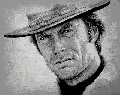 Clint Eastwood Print by Andrew Read