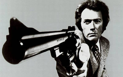 Silks Mixed Media - Clint Eastwood Big Gun 2 by Tony Rubino