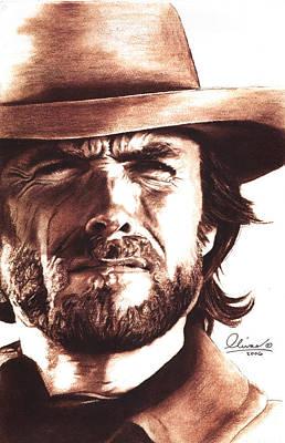 Wales Mixed Media - Clint Eastwood by Bill Olivas