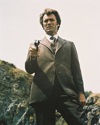Harry Photograph - Clint Eastwood In Dirty Harry  by Silver Screen