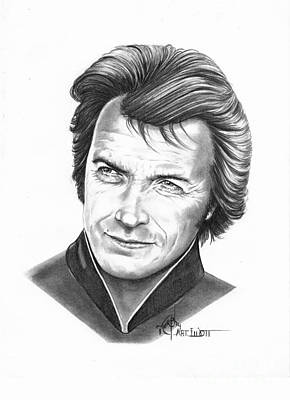 Famous People Drawing - Clint Eastwood  by Murphy Elliott