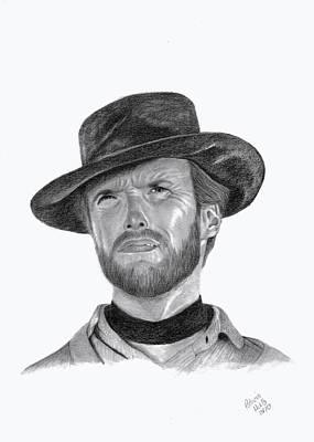 Clint Eastwood Print by Patricia Hiltz