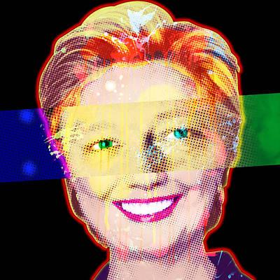 Clinton Eyes Print by Gary Grayson