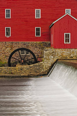 Clinton Historic Red Mill Print by Susan Candelario