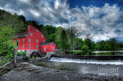 Clinton Red Mill House Print by Lee Dos Santos