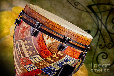 Congas Photograph - Clissic Djembe African Drum Photograph In Color 3334.02 by M K  Miller