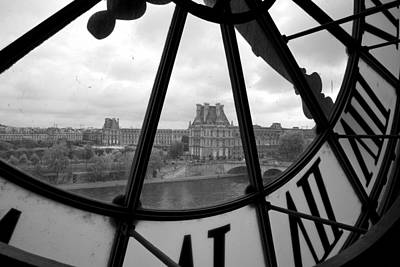 White River Scene Photograph - Clock At Musee D'orsay by Chevy Fleet