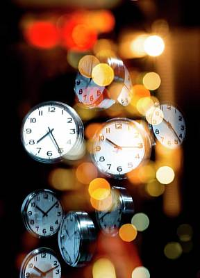 Clock Faces Print by Victor Habbick Visions