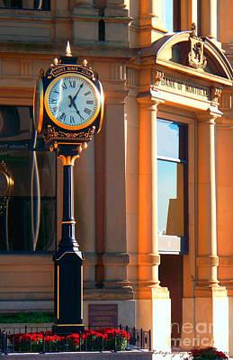 Clock Of New Brunswick Print by Gena Weiser