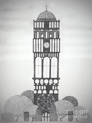 Music Painting - Clock Tower by JL Vaden