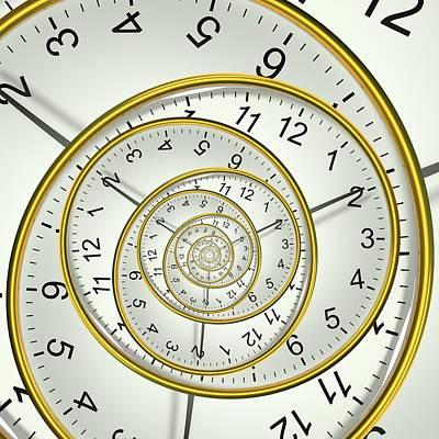 Clockface Spacetime Warp Print by David Parker