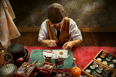 Clockmaker - A Demonstration In Horology Print by Mike Savad
