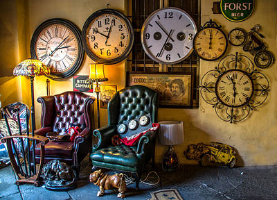 Mess Photograph - Clocks In A Mess by Luca Lorenzelli
