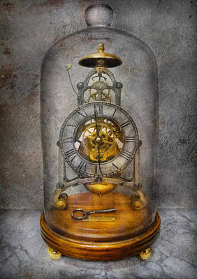 Watchmaker Photograph - Clocksmith - The Time Capsule by Mike Savad