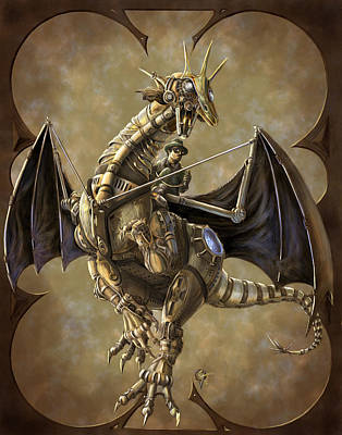 Carlo Painting - Clockwork Dragon by Rob Carlos