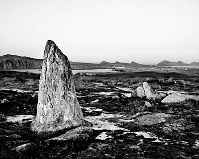 Megalith Photograph - Clogher Head Megalith From The Ring Of Kerry by Mark E Tisdale