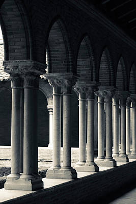 Cloister Of A Church, Cloitre Des Print by Panoramic Images