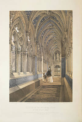 Cloister Of The Mediaevel Court Print by British Library