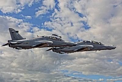 Hawk Mk 120 Photograph - Close Formation by Paul Job