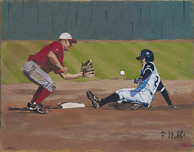 Close Play At Second Original by Ron Gibbs