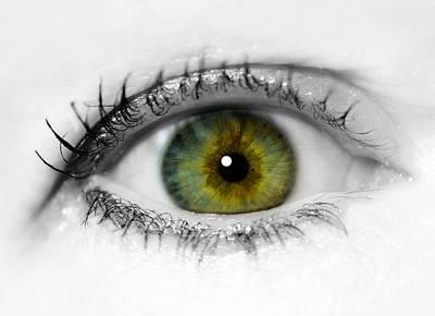 Close Up Eye Print by Amanda Elwell
