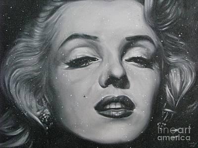 Close Up Marilyn Print by Sukalya Chearanantana