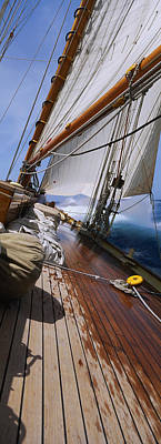 Part Of Photograph - Close-up Of A Sailboat Deck by Panoramic Images