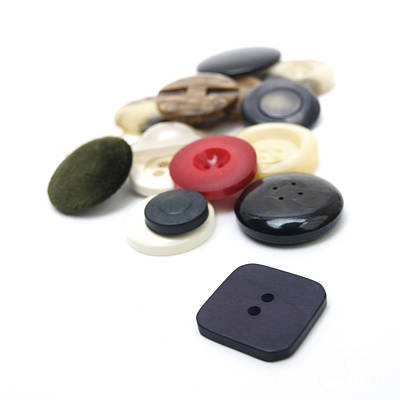 Large Group Of Objects Photograph - Close-up Of Coloured Buttons by Bernard Jaubert
