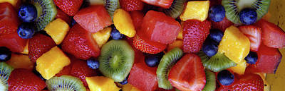 Close-up Of Fruit Salad Print by Panoramic Images