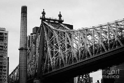 Close Up Of The Iron Work On The Queensboro Bridge New York City Print by Joe Fox