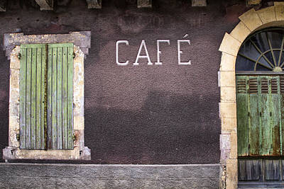 Closed Cafe In South-west France Print by Georgia Fowler