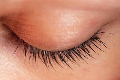 Human Eye Photograph - Closed Eye Of Young Woman Showing Eyelid by Dorling Kindersley/uig