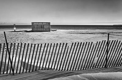 Footprints Photograph - Closed For The Season by Scott Norris