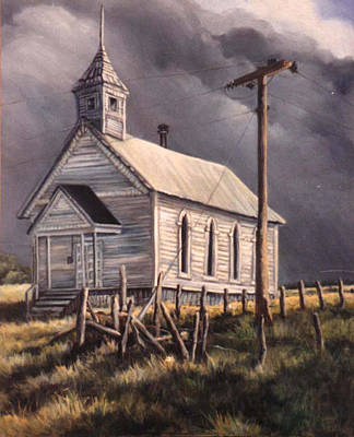 Donna Tucker Painting - Closed On Sundays by Donna Tucker