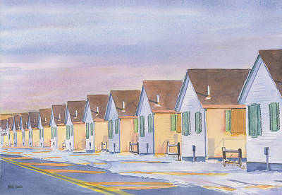 Winter Scenes Painting - Closed Till May by Heidi Gallo